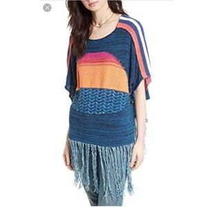 🔥30%OFF🔥EUC Free People Sunset fringe top